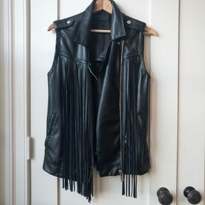 [BLANKNYC] vegan leather vest